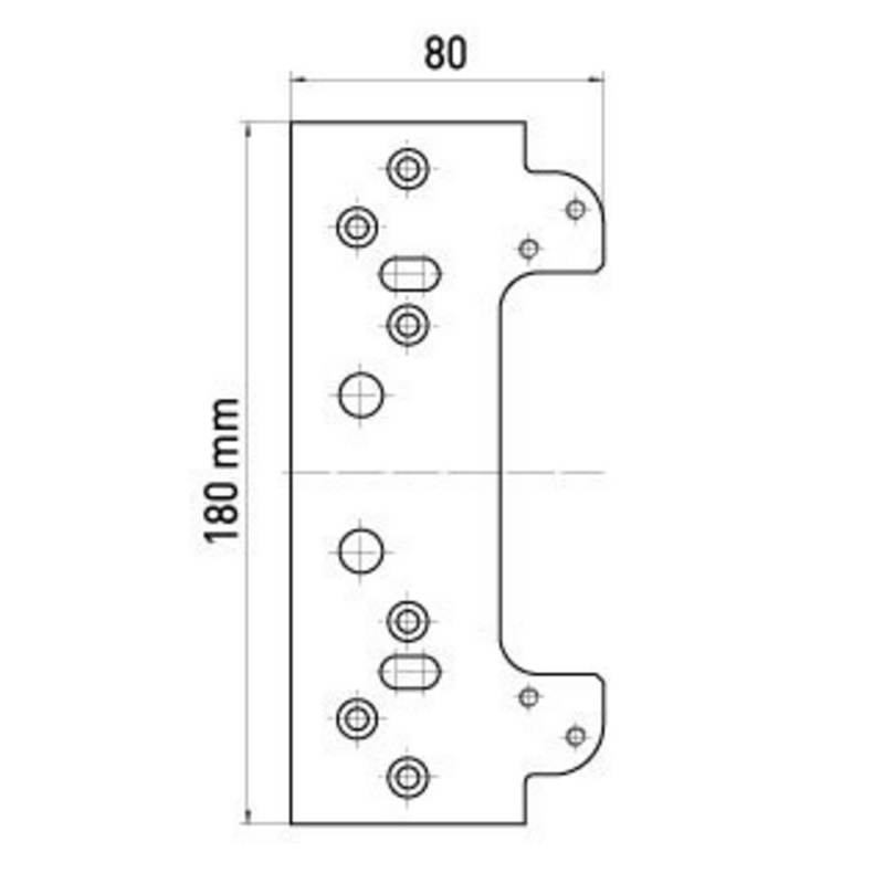TE 640 3D FZ/1 fixing plate, casing frame – Global Bangun Mandiri